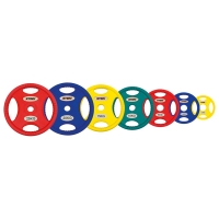 Профессиональные диски для штанг Stein TPU Color 3-Hole Plate  DB6062