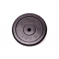 Диск домашний обрезиненный черный 10кг.RCP10-10