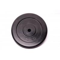 Диск домашний обрезиненный черный 15кг.RCP10-15