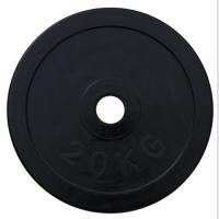 Диск домашний обрезиненный черный 20кг. RCP10-20