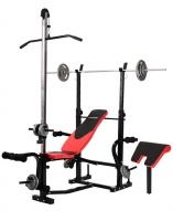Скамья HS1070 + Штанга + гантели 115 кг.