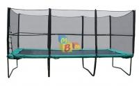 Квадратный батут KIDIGO  457х305 см. с защитной сеткой