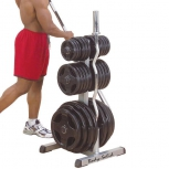 Стойка под диски и грифы Body-Solid Olympic Plate Tree Bar Holder (GOWT)