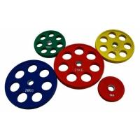Диск олимпийский цветной с отверстиями для рук 15кг (RCP19)