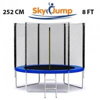 Батут SkyJump 8 фт., 252 см.з захисною сіткою та драбинкою