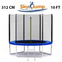 Батут SkyJump 10 фт., 312 см.з захисною сіткою та драбинкою