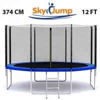 Батут SkyJump 12 фт., 374 см.з захисною сіткою та драбинкою