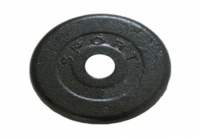 Диск стальной Newt Home 1 кг, диаметр - 30 мм
