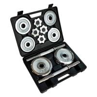 Домашний набор гантель в чемодане Stein Home Dumbbell Chrome Set Box 20 kg
