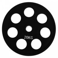 Диск олимпийский обрезиненный черный 20кг.RCP18-20