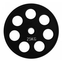 Диск олимпийский обрезиненный черный 25кг. RCP18-25