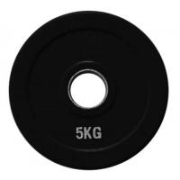 Диск олимпийский обрезиненный черный 5кг. RCP18-5