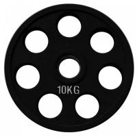 Диск олимпийский обрезиненный черный 10кг. RCP18-10